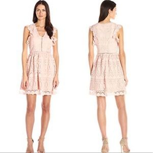 J.O.A Los Angeles pink lace dress